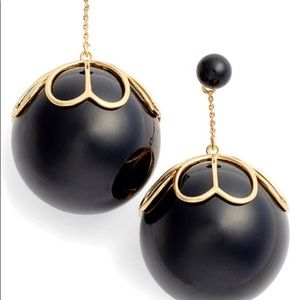 Kate Spade Pearlette Drop Earrings Black